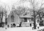 Mucking Parish Church and School c1900
